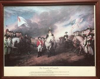 The SURRENDER of CORNWALLIS by John Trumbull,Historic Painting Print,Yorktown Virginia,Lord Cornwallis
