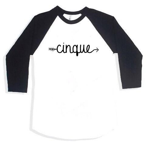 6T 5th Birthday Shirt Boy5th GirlCinque Shirt5th