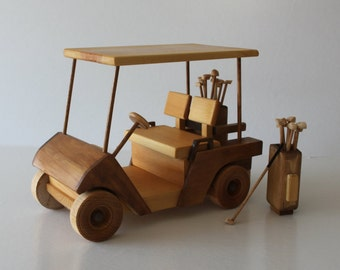Wooden Model Golf Cart