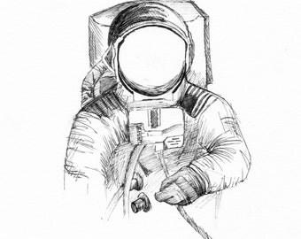 """Cosmonaut - 8"""" x 10"""" Print"""