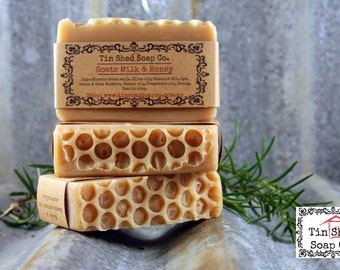 Goats Milk & Honey Handmade Soap with Shea and Cocoa Butters. Made in Australia.