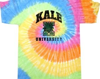 Yoga Clothing For You Mens Shirt Kale University Lights Tie Dye Tee Shirt = 1000-LKALE