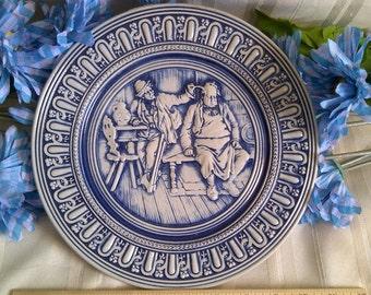 Original Gerzit West Germany Plate. Cobalt Blue Stoneware.