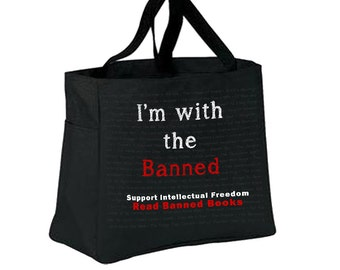 I'm With the Banned Canvas Bag