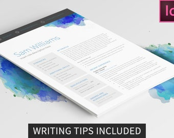resume template 2 page indesign professional interview winning template cv template modern - Resume Template Indesign