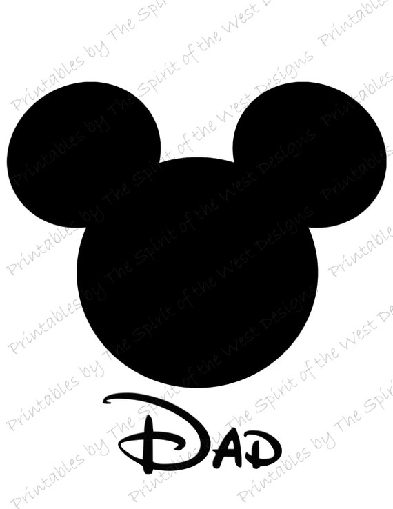 mickey mouse head dad image use as iron on or clip art mouse ears rh catchmyparty com