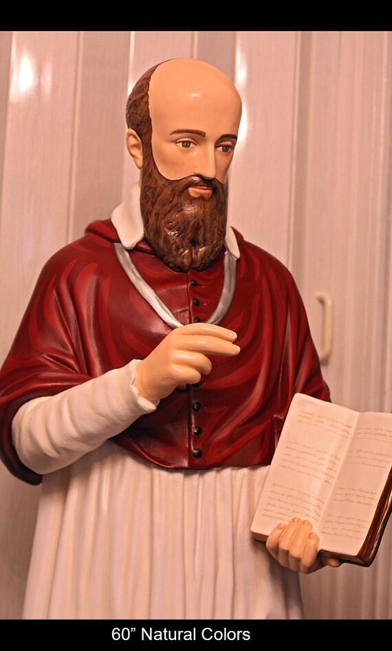 """St. Francis (SALE) de Sales 60"""" Fiberglass Catholic Religious Statue"""