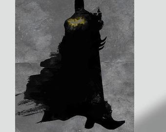 Batman Poster Watercolor - Batman Poster - The Dark Knight - Framed Poster - Canvas Print