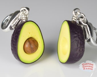 Avocado Charm Handmade miniature food jewelry - Hass variety!