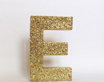Gold Silver Glitter Stand Up Letter -Initial -Monogram -Wedding -Engagement - Shower - Birthday -Home Decor - Photo Prop - Winter ONEderland