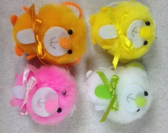 4 Fluffy Bears Craft Bear Fake Bears White Bear Craft Bears Embellishments