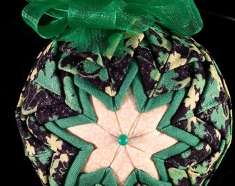 "St. Patrick's Day Quilted Keepsake Ornament ""Leprechaun's Dream"""