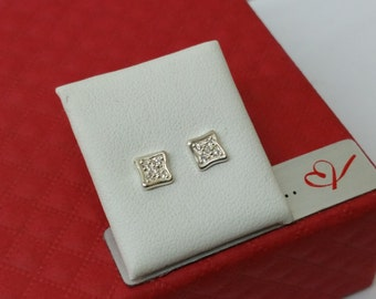 Glitter ear studs earrings 925 Silver KO141