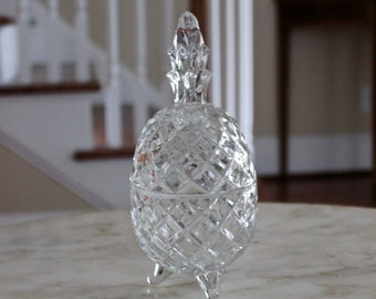 Glass Pineapple Jar