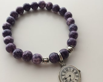 Natural Pearl with watch charm bracelet