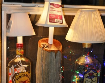 EXPIRATION SALE!! Cedar Driftwood Accent Lamp with Varnished Highlights and Candelabra Base