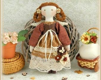 angel doll fabric soft doll rag doll cloth doll мягкая тряпичная кукла текстильная кукла primitive doll stuffed doll handmade doll ooak