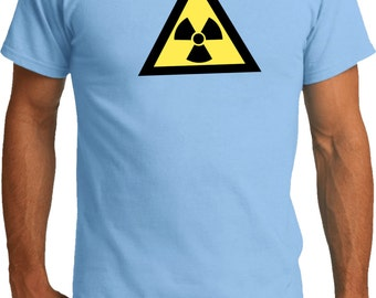 Men's Funny Shirt Radioactive Triangle Organic Tee T-Shirt TRIANGLE-PC50ORG