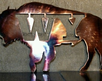 WY Buffalo with copper and blue finish