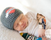 Mom Tattoo Hat, Newborn Photography Prop, Child's Beanie, made to order