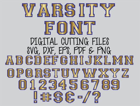 Download Svg SPORTS VARSITY FONT Layered Digital Cutting Files Svg ...