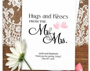 Personalized Wedding Candy Bags - Wedding Treat Bags - Candy Bags Wedding - Mr & Mrs - Love is Sweet - 24 BAGS WTB8mam