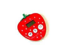 Strawberry Kitchen Timer // Magnetic Cooking Timer // Kawaii Red Berry Kitchen Clock Magnet // Cute Kitchen Decor // Kids Cooking Timer