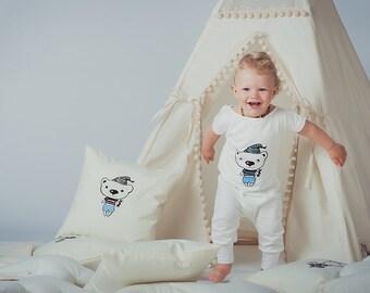 Kid Pajamas Bear - Pajamas overalls for kids -Toddler pyjama