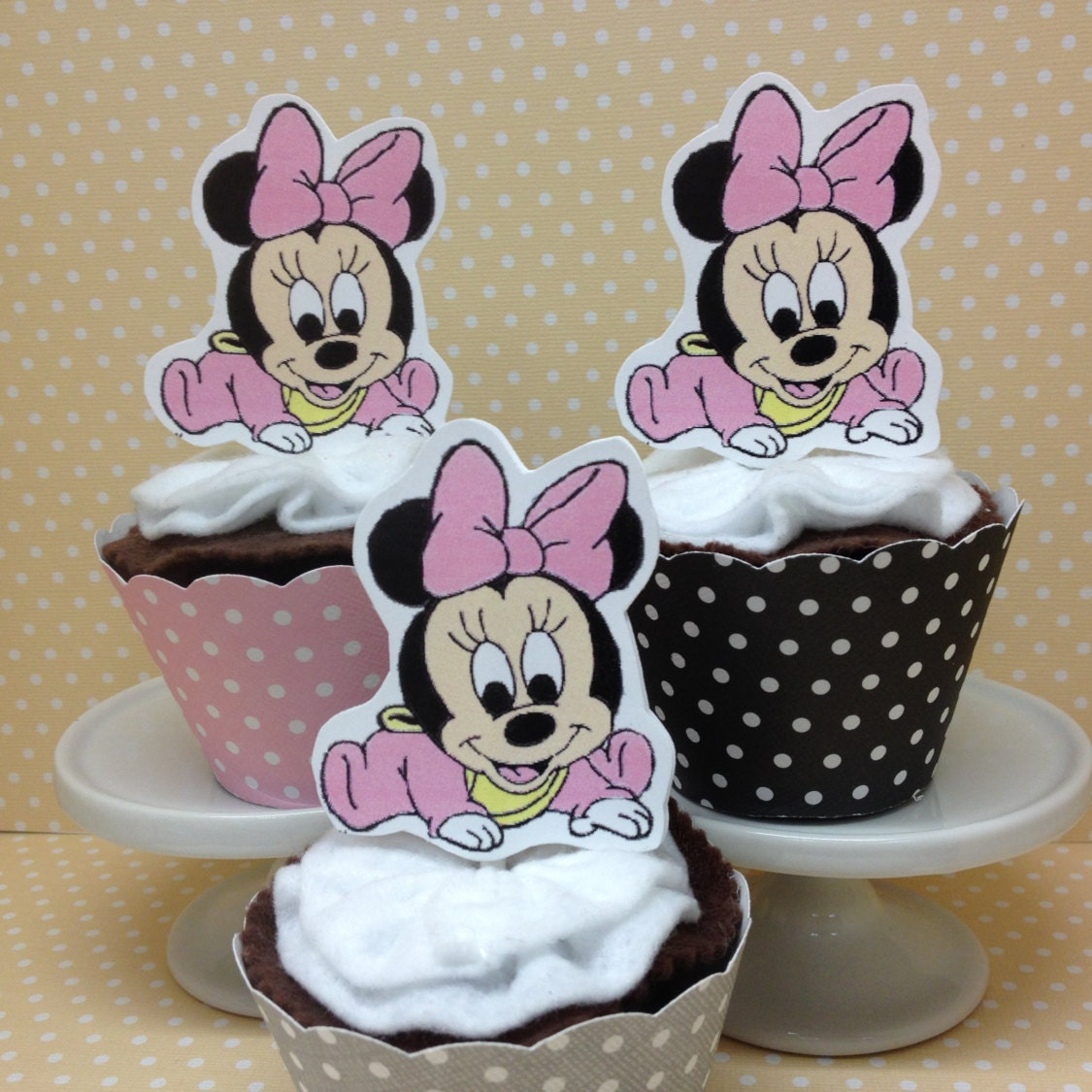 Baby Minnie Mouse Cupcake Toppers | www.imgkid.com - The ...