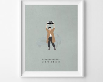 "Lloyd Dobler Illustration Print // Say Anything Boombox // 80's Movie Print // Film Artwork // Variety of Colors // 8"" x 10"" or 11"" x 14"""