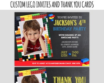 Lego Birthday Party - Lego Printable Party - Lego Birthday Decorations - DIY Lego Decor - Custom Lego Party - 2 Options - I'd Rather Doodle