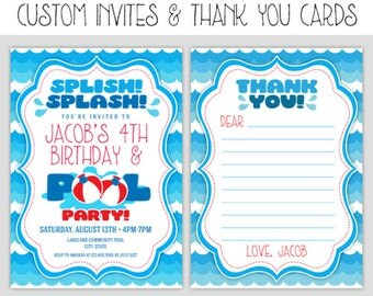 Pool Party Decorations - Pool Party Birthday Decor - Birthday Pool Printable Party - Pool Party - Birthday Party Decorations - 2 Options