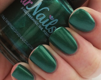 DISCONTINUED Green With Envy | Falling For Me Collection | Handmade 5-Free Nail Polish