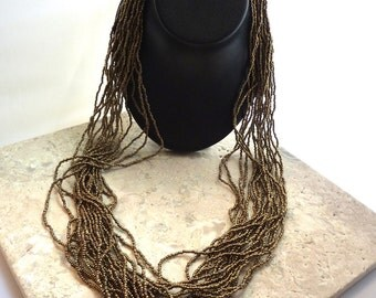 Gold Bead Tribal Necklace Naga Tribe Necklace