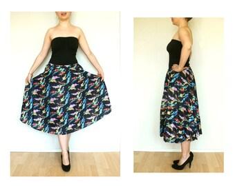 vintage skirt, boho skirt