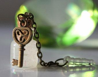 Snape Tears - phone charm. stars. cute phone charm. handmade. glass bottle. tiny botte. glass vial. bottle charm. vial charm. harry potter