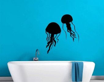 Jellyfish Ocean Life Sea World Wall Decal