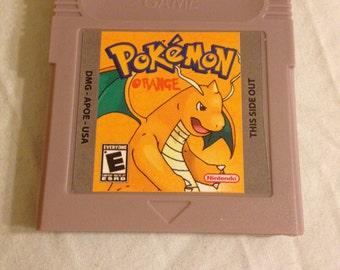 Pokemon Orange Fan Made Nintendo Game Boy Game. Saves! 2014 Version
