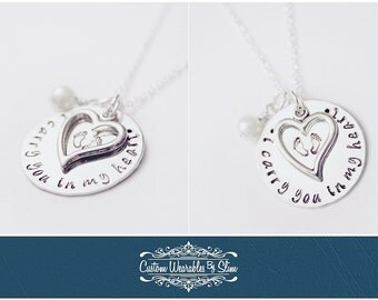 "Miscarrage/Memorial ""i carry you in my heart"" Necklace"