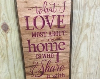 Reclaimed Wood Entryway Sign, Rustic Home Decor, Mantle Sign, Entryway Sign, Porch Sign, Patio Sign, Repurposed Wood, Great Gift for Mom