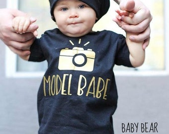 Model Babe - Instagram Baby - Baby Bodysuit - Kid Shirt