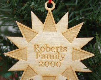 Personalized Multi-Pointed Star Ornament