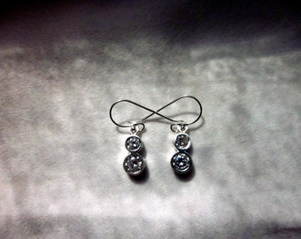 Cubic Zirconia & Sterling Silver Earrings - #3