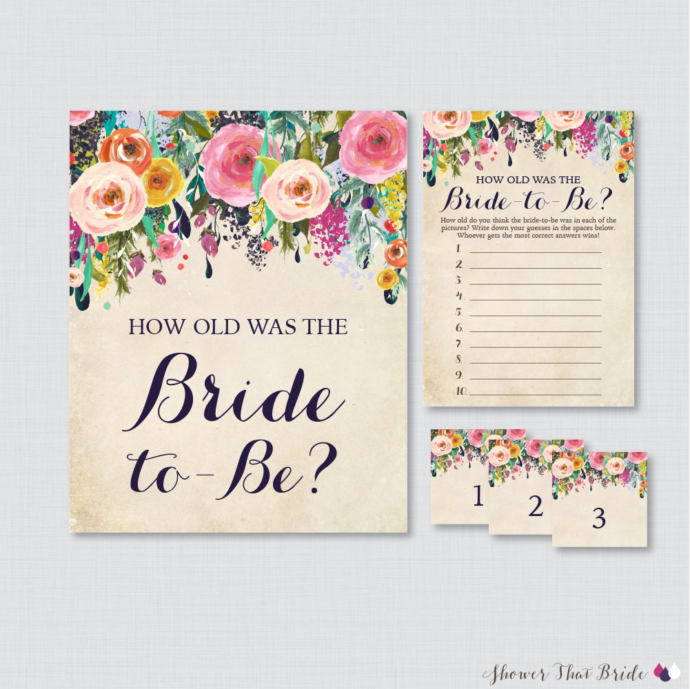 Clean image within how old was the bride to be free printable