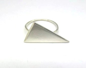 Delicate ring / 925 silver triangle
