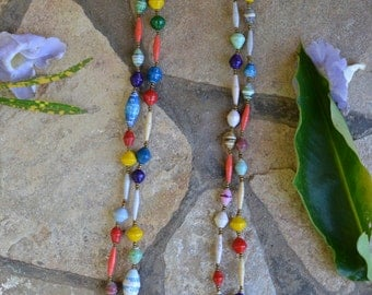 Paper Bead Necklace (Multi Color)