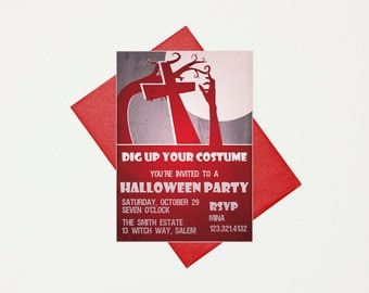 Halloween Invitation Kids, Spooky Halloween Invites, Halloween Party Invitations, Halloween Party Invite, Halloween Costume Party Invitation