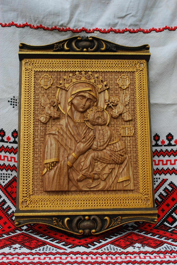 Wooden Icons of Our Lady and the saints