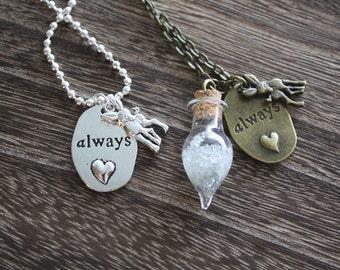 Always Necklace - Antique Bronze OR Silver -  Professor Severus Snape Tears Necklace -  Harry Potter Necklace - Harry Potter gift!