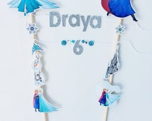Frozen / frozen birthday / frozen cake topper / frozen birthday party / frozen birthday decorations / frozen birthday banner / frozen banner
